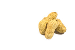 Peanuts. Close up placed on white background Stock Photo
