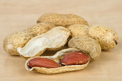 Peanuts closeup Royalty Free Stock Images