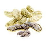 Peanuts in closeup Stock Photography