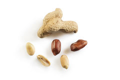 Peanuts composition on white Stock Photography