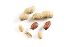 Peanuts composition on white Stock Image