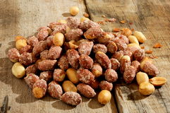 Peanuts dried snack time healthy Stock Photos