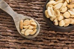 Salted peanut seeds - Arachis hypogaea royalty free stock photo
