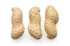 Peanuts. Food and snacks: peanuts in shell,  on white background Stock Images