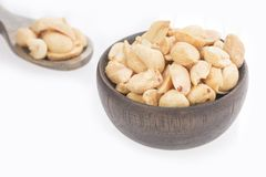 Salted peanut seeds - Arachis hypogaea. Peanuts are a food that you may know as peanuts Stock Photos