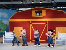 Peanuts gang dances on stage during show Stock Photo