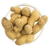 Peanuts in a glass bowl Stock Photos