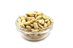 Peanuts in a glass container Stock Photography