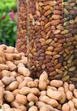 Peanuts in Glass jars Royalty Free Stock Image