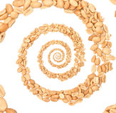 Peanuts infinity spiral abstract background. Stock Image