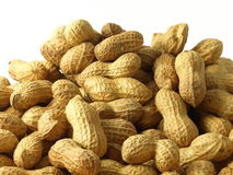 Peanuts, isolated. Peanuts on white isolated background stock image