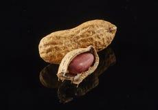 Peanuts isolated. On black background Stock Image