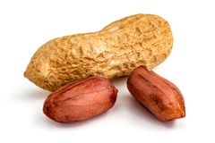 Peanuts - isolated royalty free stock photo