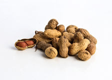 Peanuts. Isolated on white background Stock Images
