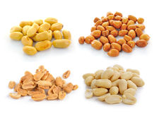 Peanuts  isolated on white background Royalty Free Stock Images