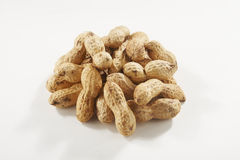 Peanuts isolated. On white background royalty free stock photo