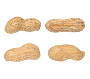 Peanuts isolated on white Royalty Free Stock Photos