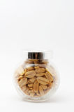 Peanuts in jar. With cover Stock Images