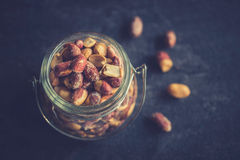 Peanuts in the jar Royalty Free Stock Images