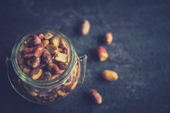 Peanuts in the jar Stock Image