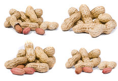 Peanuts macro shots Royalty Free Stock Photography