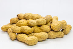 Peanuts. Nut on white background Stock Images