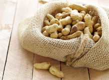 Peanuts nuts  in a bag Royalty Free Stock Photos