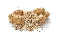 Peanuts and oatmeal Stock Photos