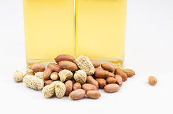 Peanuts and oil Stock Photography