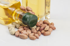 Peanuts and oil Royalty Free Stock Image