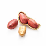 Peanuts over white Stock Photography