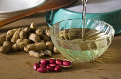 Peanuts and Peanut Edible Oil Royalty Free Stock Image
