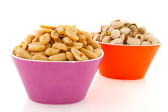 Peanuts and pistachios Royalty Free Stock Photography