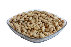 Peanuts on the plate royalty free stock photos