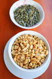 Peanuts and pumpkin seeds Stock Photos