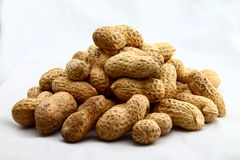 Peanuts. Raw shelled peanuts. Cake material Stock Photography