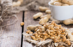 Peanuts (roasted and salted) Royalty Free Stock Photos