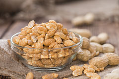 Peanuts (roasted and salted) Stock Photography