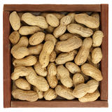 Peanuts in a rustic, wooden box Stock Photography