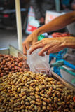 Peanuts for sale in Medan, Sumatra, Indonesia Royalty Free Stock Image