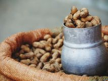 Peanuts for sale royalty free stock photography