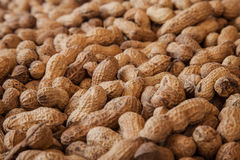 Peanuts. For sale at the weekly produce market in iznik, turkey royalty free stock image