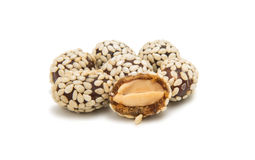 Peanuts in sesame seeds stock photo