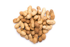 Peanuts In Shell Isolated Royalty Free Stock Photography