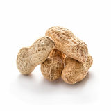 Peanuts in shell on white Stock Photos