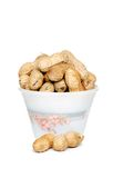 Peanuts with shells in a bowl Royalty Free Stock Image