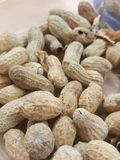Peanuts in shells. A close up of peanuts in shells Stock Images