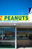 Peanuts Sign. At roadside stand for souvenirs in the state of Georgia, USA Stock Photo