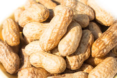 Peanuts stack background Royalty Free Stock Photo