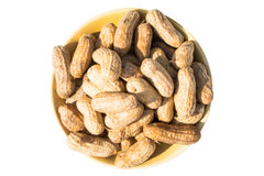 Peanuts stack isolated on white background Royalty Free Stock Images